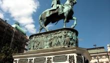 Piazza della repubblica Belgrado Serbia